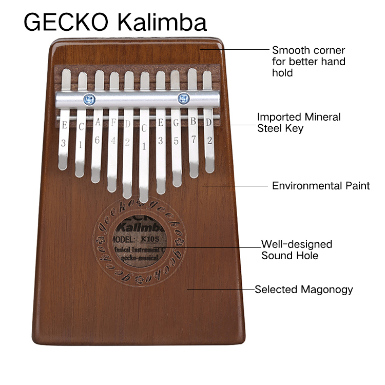 China made easy kalimba songs beginner 10 notes wood piano Featured Image