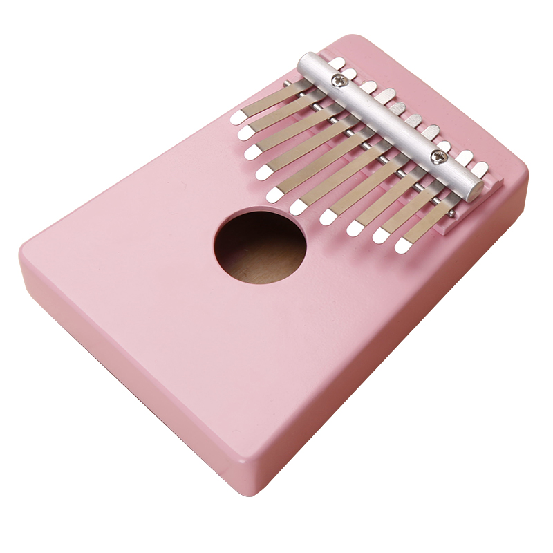 10 Keys Kalimba Mbira Likembe Sanza Thumb Piano Pine Light pink Instrument top quality Thumb piano