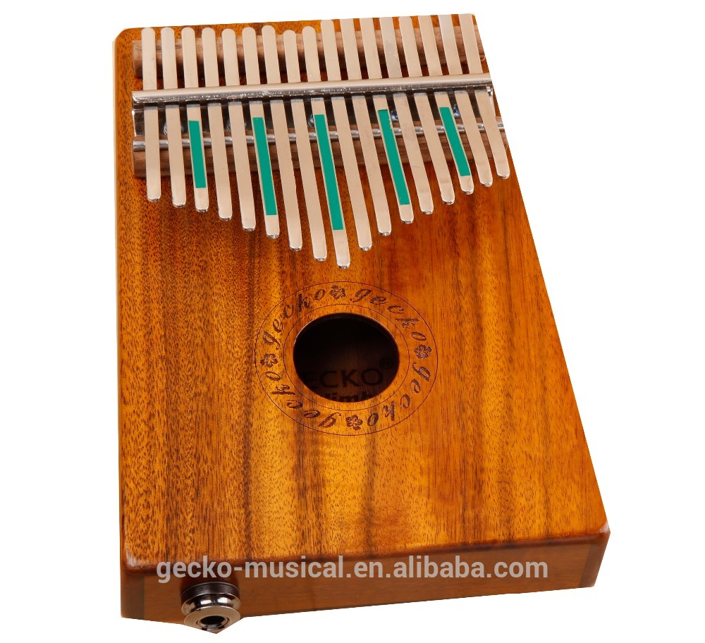 17 Key EQ Kalimba gecko natural wood professional thumb piano