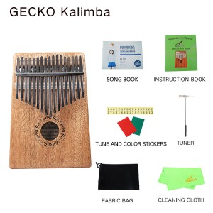 gecko natural wood professional 17 keys kalimba