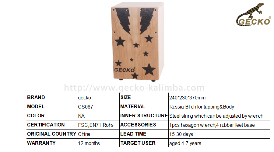 http://www.gecko-kalimba.com/handmade-cajon-percussion-box-hand-drum-natural-wooden-drumstar-drawing.html