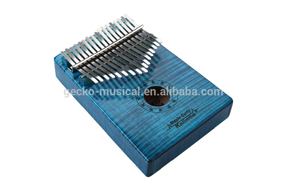 Africa Kalimba Thumb Piano 17 keyboards/ Maple curly wooden And Metal Kalimba New