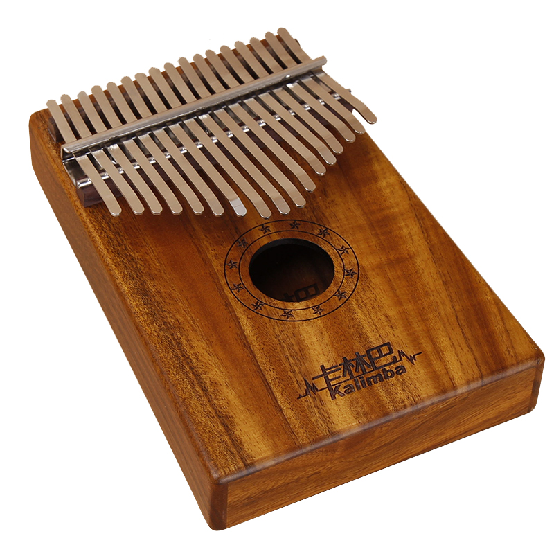 Factory wholesale Best Affordable Cajon - Africa Kalimba Thumb Piano 17 keyboards/ Notes KOA wooden And Metal Calimba Percussion Instrument New – GECKO