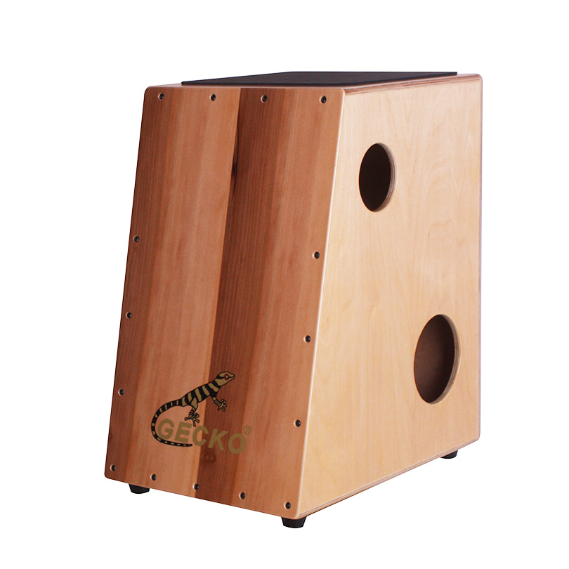 apple wood cajon with trapezoid shape ,apple strips.Africa drum box for percussion tool playing,hang drum