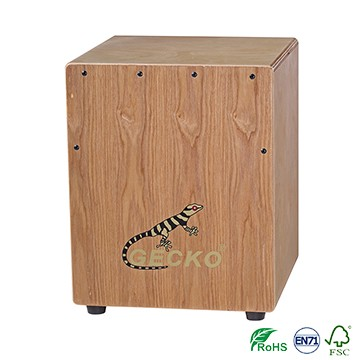 Ash Wood Gecko mini Tapping Cajon foar kindergarten