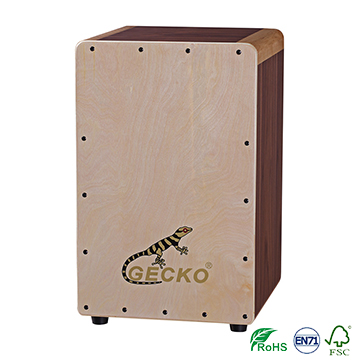 best selling series GECKO CAJON Drum Musical Instruments from manufacturer in China,beautiful birch bingding,drumset