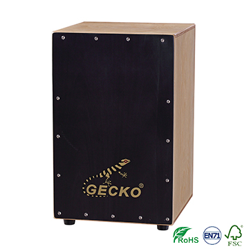 birch wood hand box drum Matt Finished cajon box drum,black tapping drum set