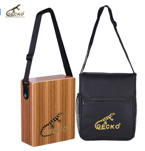 C-68Z Portable Traveling Cajon Box Drum Hand Drum Zebra Wood Percussion Instrument with Strap Carrying Bag