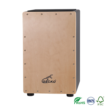 Cajon Player Series Patented Base Port Adjustable V String Light Finishing with nature birch Wood Face Plate.