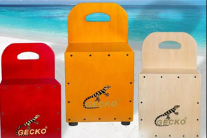 GECKO cajon drum: from the beginning to skilled, let children learn drum less detour | GECKO