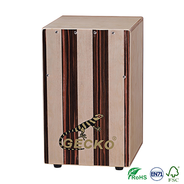 Chanson music whoelsale cheap cajon bag drum cajon,GECKO brand,ebony/birch combination