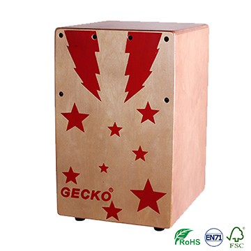 factory made jazz music cajon drum sets,promotional star design for children musical box