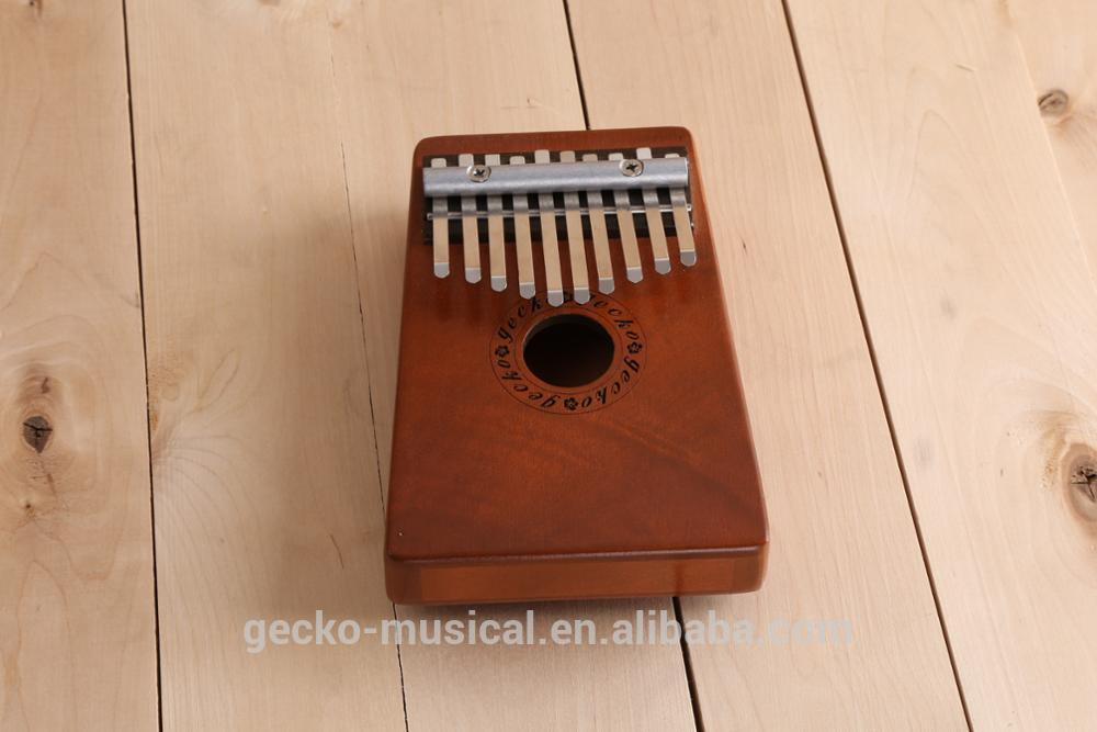 Factory OEM 10 notes / keys Mbira Mbila 10 key solid wood Kalimba
