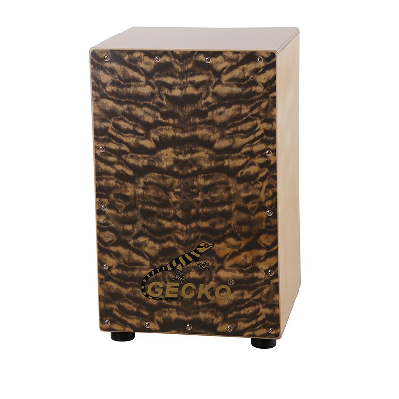 GECKO box moire pattern for playing in musical band,plywood box percussion cajon drum set