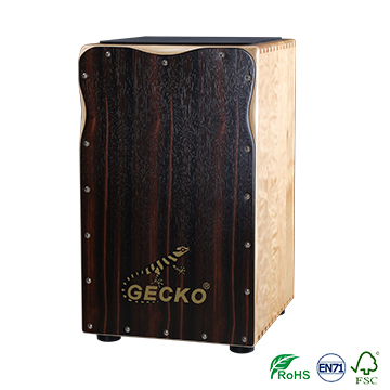 gecko high end solid wood cajon drum with cajon pedal