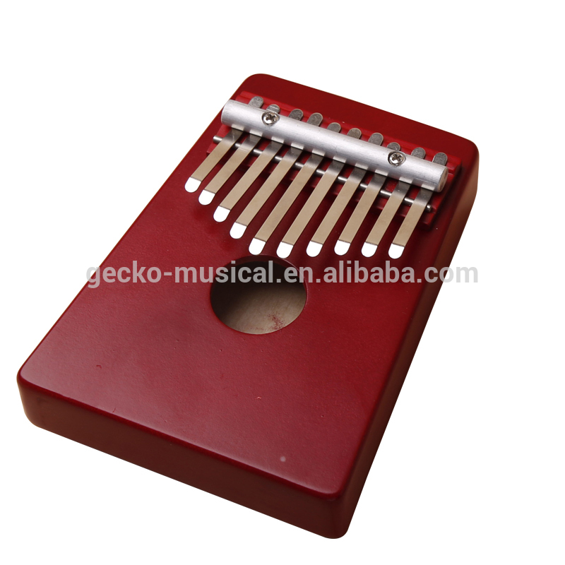 Gecko portable Red 10 Keys African Original Kalimba