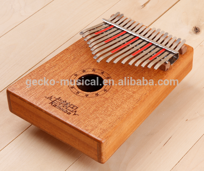 Cheap price Quality Percussion - Gecko professional african thumb piano Mahogany – GECKO