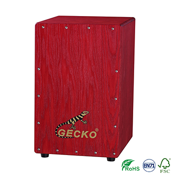 Manufacturer for Miniature Children Toy Electric Guitar - Handmade Decals Pattern Cajon Percussion Box Hand Drum,ash tree wood – GECKO