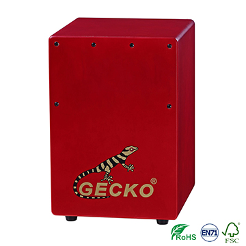 Handmade high quality Cajon Percussion Box Hand Drum red color