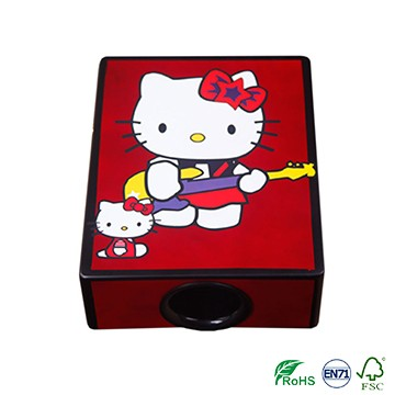 Hello kitty bright color for girls Travel Cajon Drum on sale