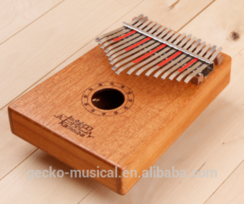 Hot sale17key african kalimba with solid mohogany wood material