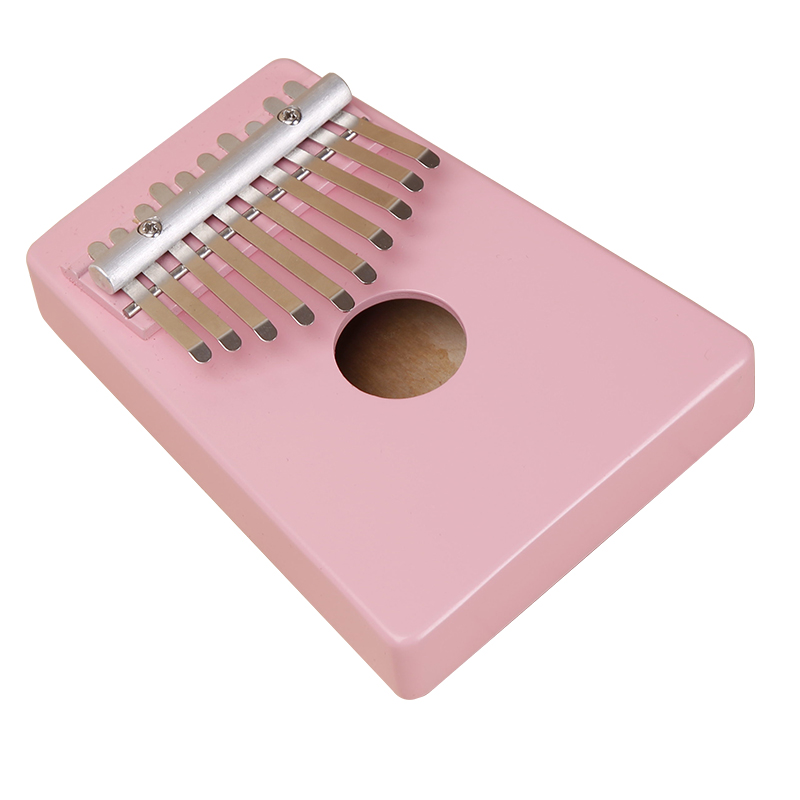 Kalimba Thumb Piano 10 Keys Tunable Coconut Shell Painted Musical Instrument Saor an-asgaidh luingeis