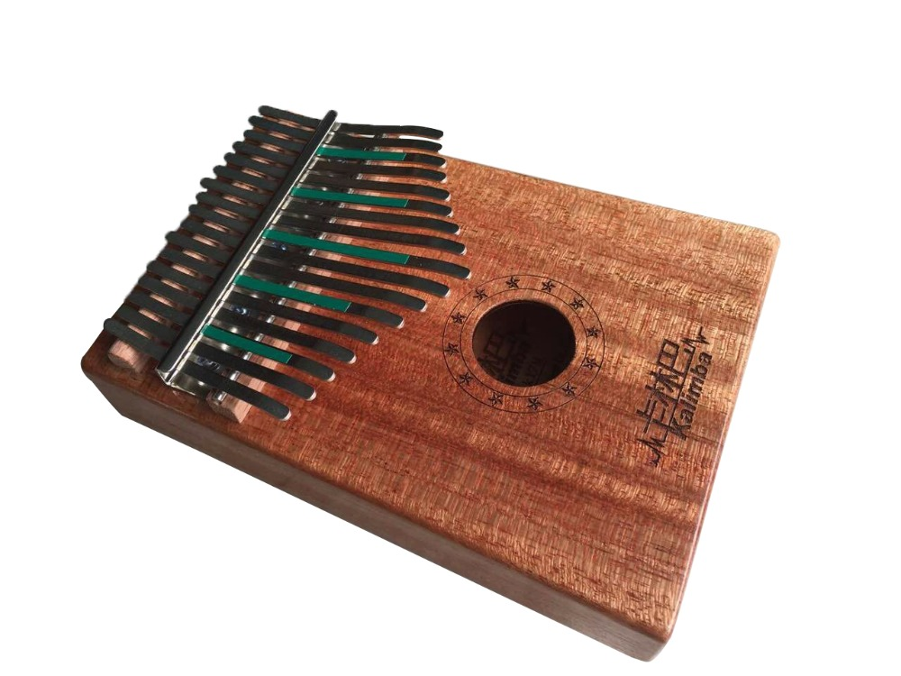 Natural 17 carbon steel Keys Kalimba Mbira Thumb Piano Traditional Musical Instrument Portable rosewood/bubinga Featured Image