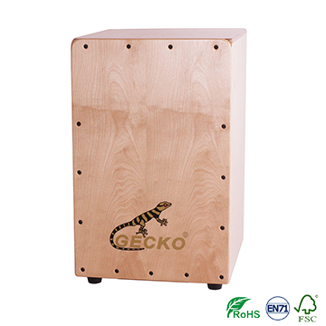 natural wooden latin percussion cajon box drum