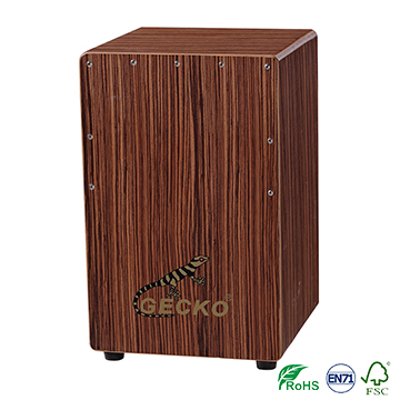 percussion cajon box drum china factory,zebra wood,wholesale musical instrument