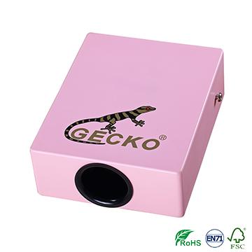 tambur de culoare roz pentru copii care călătoresc Cajon