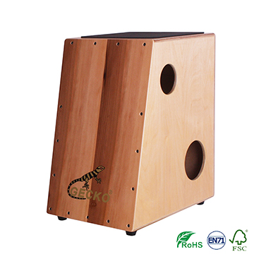 rhombus shape cajon apple wood musical drum box for pecussion GECKO brand strong durable strength,drums