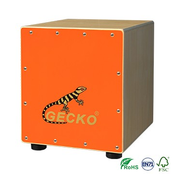 Smaller Size Cajon Drum Bright Orange Color for Kid
