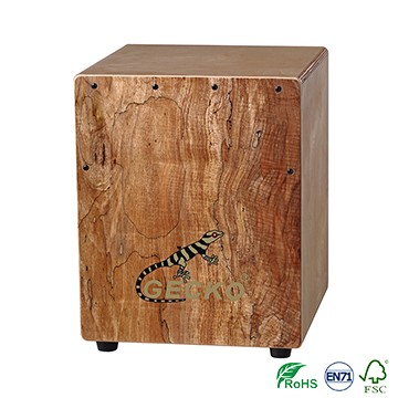 Spalted Wood Gecko Mini Tapping Cajon foar kindergarten