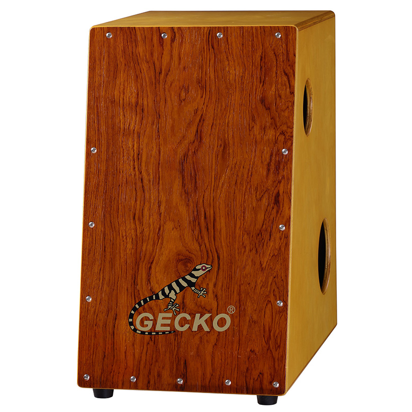 trapezoid strong base cajon with two holes on sides for special use,the musical instruments