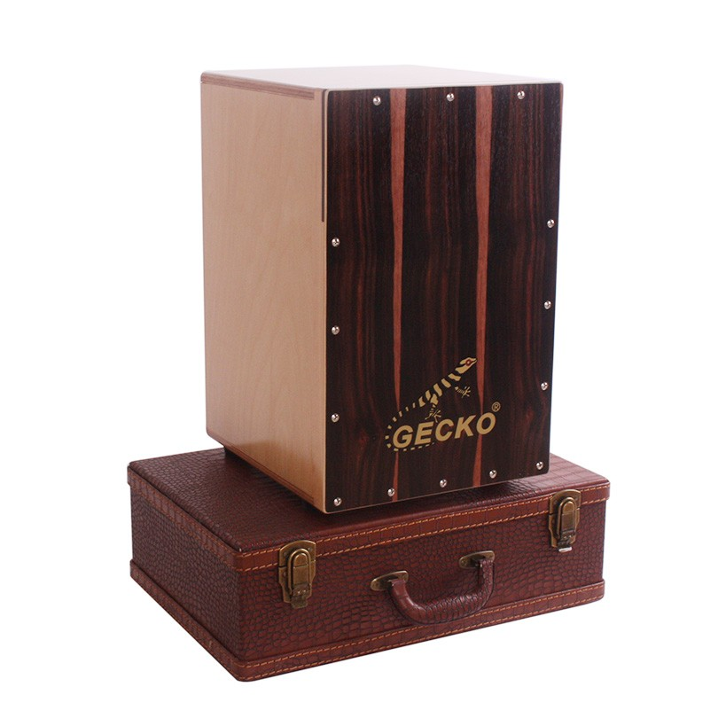 Travel Cajon Into Pieces , Precussion Wood Music Box Easy to Carry