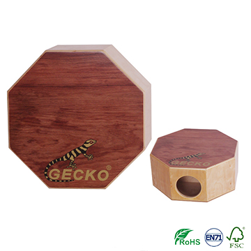 Wholesale hexagon or octagon cajon box drum set gecko brand