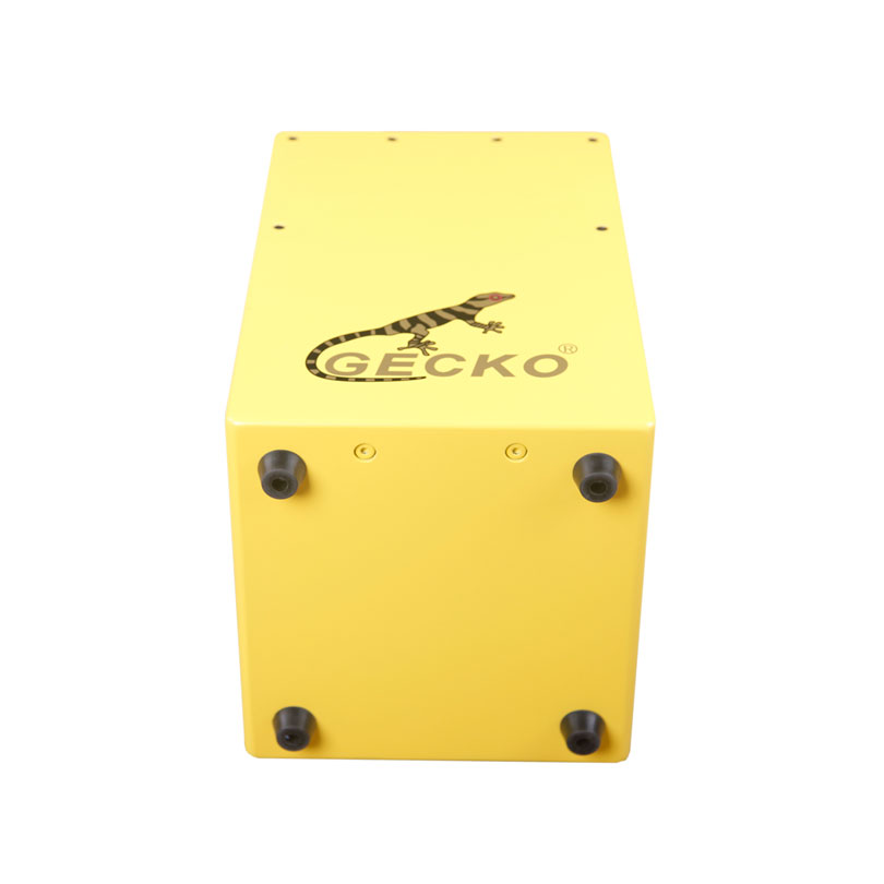 yellow cajon for gecko brand,color paint,imported birch wood for children playing