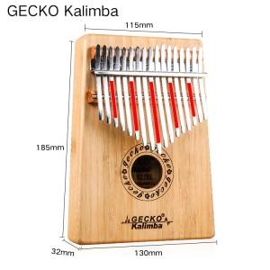 Africa Kalimba Thumb Piano 17 keyboards/Bamboo And Metal Kalimba New