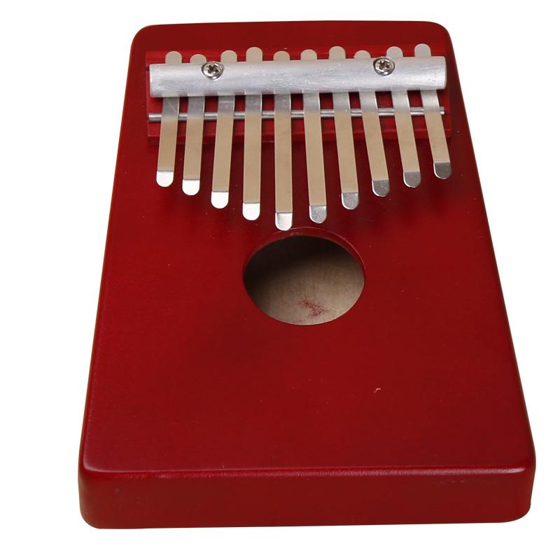 10 Keys Kalimba Mbira Likembe Sanza Thumb Piano Pine Red Instrument Hot Selling