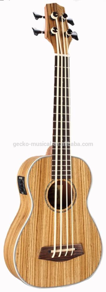 30 inche wholesale zebra wood ukulele with EQ