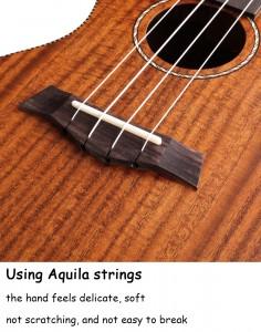 Gecko ukulele,High Grade Wholesale Bass Guitar Concert Wooden KOA Ukulele | GECKO