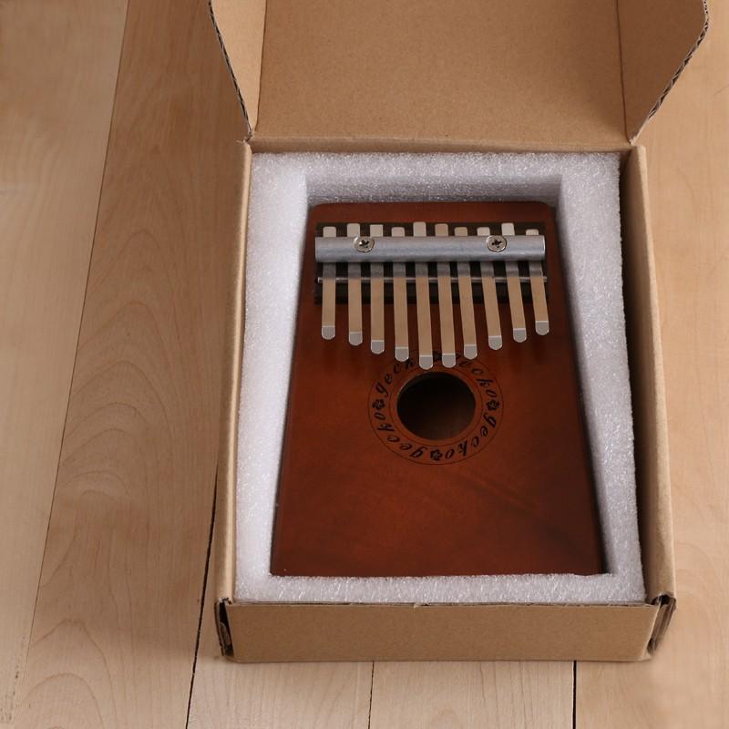 Africa Kalimba Thumb Piano 10 Notes Mahogany And Metal kalimba Percussion Instrument New