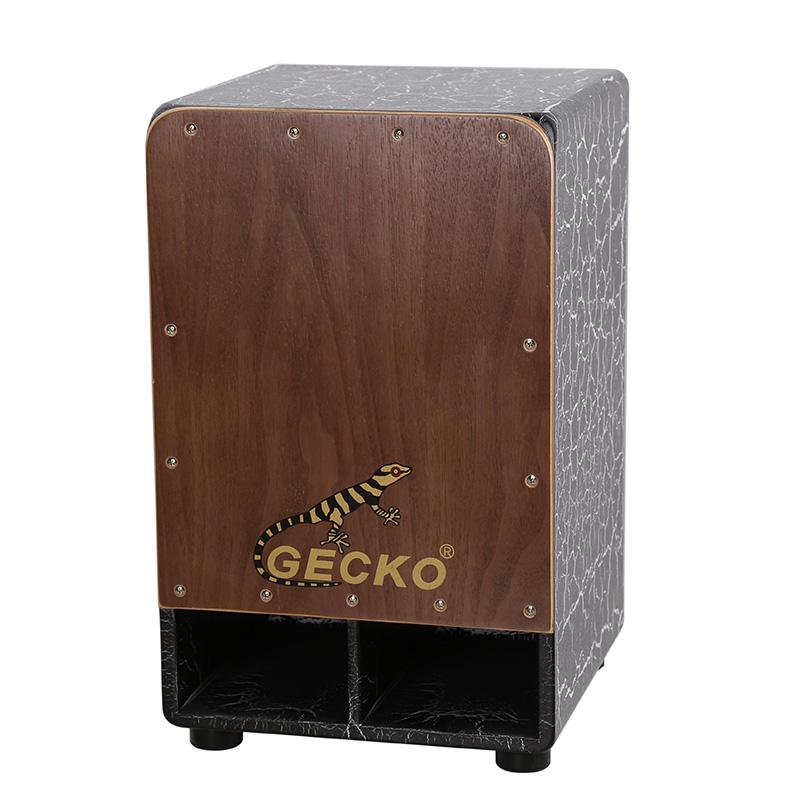 black crack paint walnut birch wood cajon drum box for adult use sonor drum set
