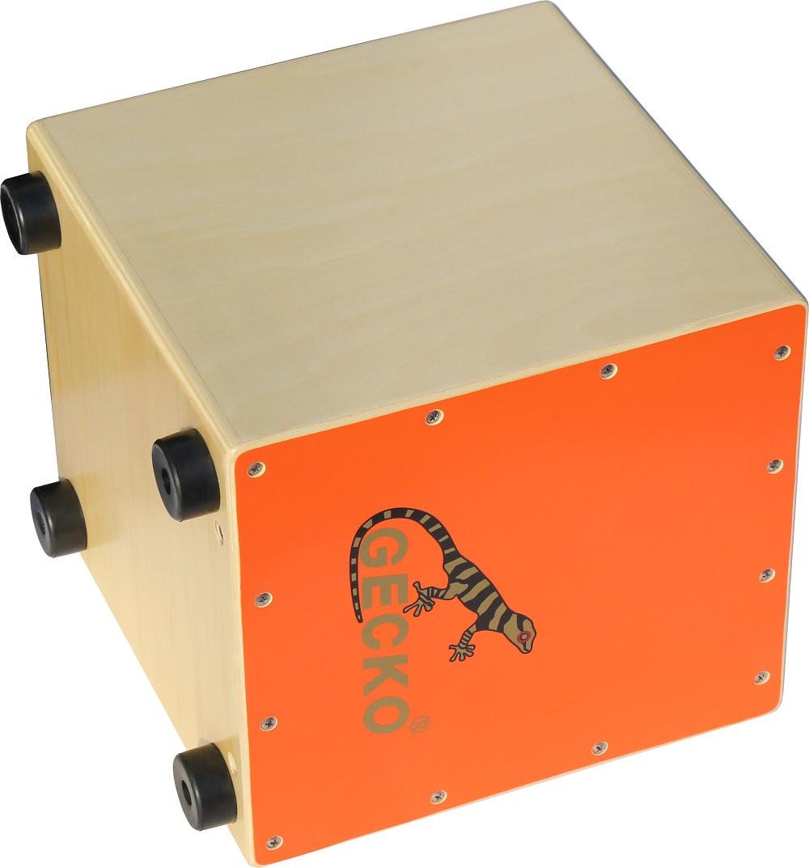 Brillant Orange Birch Cajon Percussion Drum for Kids on Sale