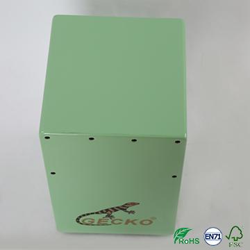 children toy snare wire cajon,green color drum