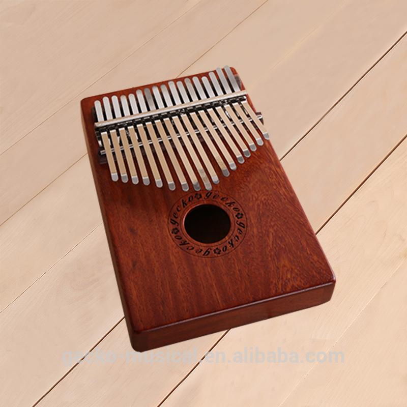 China Factory Price 17 key kalimba Gecko wood Kalimba
