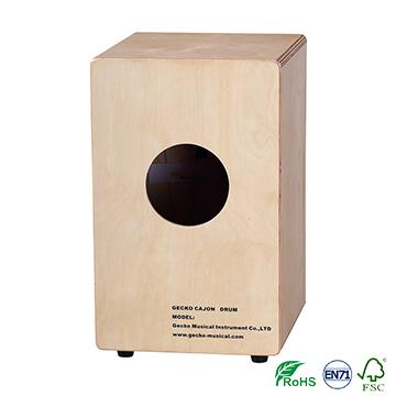 ebony wooden toy cajon drum