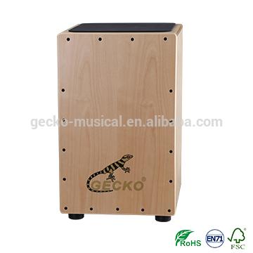 gecko cajon natural wooden steel string CL14 cajon