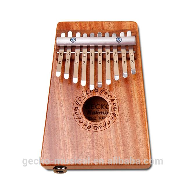 gecko natural wood professional 10 keys EQ thumb piano