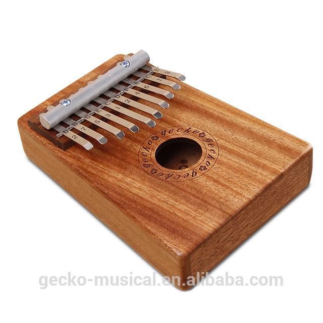 gecko natural wood professional 10 keys kalimba